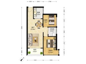 潜龙曼海宁花园南区 2室2厅 68㎡深圳龙华区上塘二手房图片